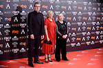 Manuela Carmena and Yvonne Blake attends to the Red Carpet of the Goya Awards 2017 at Madrid Marriott Auditorium Hotel in Madrid, Spain. February 04, 2017. (ALTERPHOTOS/BorjaB.Hojas)