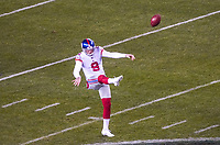 punter Riley Dixon (9) of the New York Giants - 09.12.2019: Philadelphia Eagles vs. New York Giants, Monday Night Football, Lincoln Financial Field