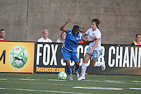 Fabiana shields Megan Rapinoe (#8) from the ball. The Boston Breakers defeated the Chicago Red Stars 1-0, at Harvard Stadium, in Cambridge, MA, Wednesday, July 15, 2009.