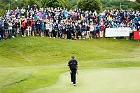 4th July 2021; Mount Juliet Golf Club, Kilkenny, Ireland; Dubai Duty Free Irish Open Golf, Day Four; Shane Lowry of the Republic of Ireland walks up to his ball on the 18th green