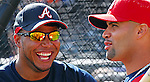 16 March 2007: Outfielder Andruw Jones of the Atlanta Braves prior to a game at the Braves' Spring Training camp at Lake Buena Vista, Fla. .