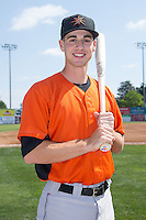 Drew Dosch (28) of the Frederick Keys poses for a photo prior to the game against the Lynchburg Hillcats at Calvin Falwell Field at Lynchburg City Stadium on May 14, 2015 in Lynchburg, Virginia.  The Hillcats defeated the Keys 6-3.  (Brian Westerholt/Four Seam Images)