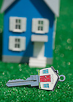 House Key with Blue Model House
