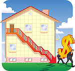 Downfall in real estate prices