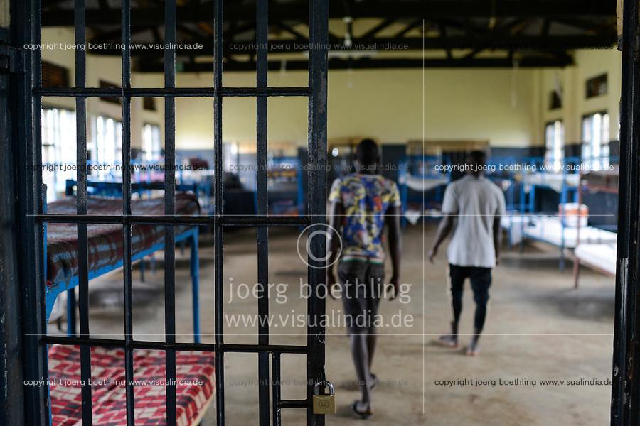 UGANDA, Kampala, Kampiringisa, national rehabilitation center, a juvenile-detention facility for children and young people, sleeping rroms / Jugendhaftanstalt und Rehabilitationszentrum Kampiringisa, Schlafsaal
