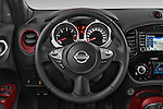 Car pictures of steering wheel view of a 2015 Nissan JUKE TEKNA 5 Door SUV 2WD Steering Wheel