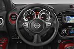 Car pictures of steering wheel view of a 2015 Nissan JUKE TEKNA 5 Door SUV 2WD Steering Wheel