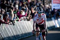 European Champion and World Cup Series leader Eli Iserbyt (BEL/Pauwels Sauzen - Bingoal) finishing 3rd<br /> <br /> Elite Men's Race<br /> 2021 UCI cyclo-cross World Cup - Zonhoven (BEL)<br /> <br /> ©kramon