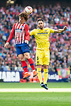 Antoine Griezmann of Atletico de Madrid and Victor Ruiz of Villareal CF during La Liga match between Atletico de Madrid and Villareal CF at Wanda Metropolitano in Madrid Spain. February 24, 2018. (ALTERPHOTOS/Borja B.Hojas)