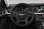 Car pictures of steering wheel view of a 2017 Genesis G80 4 Door Sedan Steering Wheel
