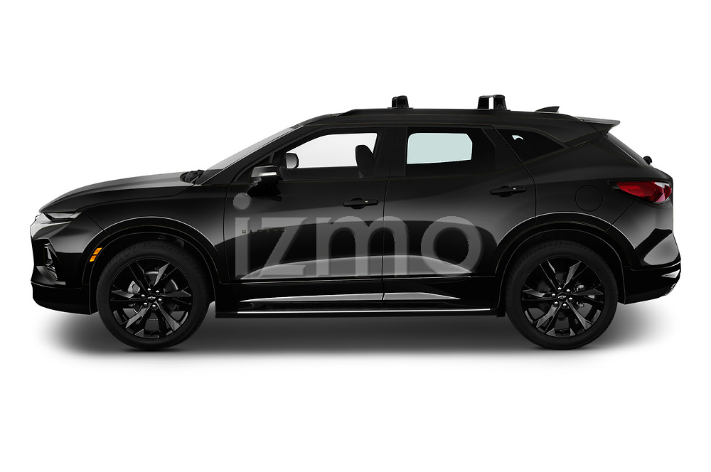 Car Driver side profile view of a 2020 Chevrolet Blazer RS 5 Door SUV Side View