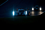 Tom Kristensen (DNK) / Allan McNish (SCO) / Dindo Capello (ITA), #2 Audi Sport Team Joest Audi R18 chassis, LMP1 category during night practice for the 14th annual Petit Le Mans held at Road Atlanta in Braselton GA, USA.