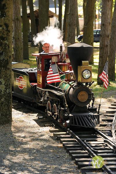 Knoebels Grove Amusement Park, Elysburg, PA. Old Smokey train.