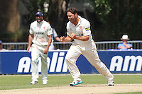 Greg Smith of Essex celebrates the wicket of Nathan Rimmington - Essex CCC vs Hampshire CCC - LV County Championship Division Two Cricket at Castle Park, Colchester, Essex - 16/07/14 - MANDATORY CREDIT: Gavin Ellis/TGSPHOTO - Self billing applies where appropriate - contact@tgsphoto.co.uk - NO UNPAID USE