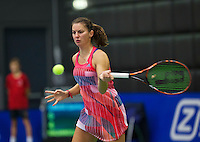Rotterdam, Netherlands, December 17, 2015,  Topsport Centrum, Lotto NK Tennis, Quirine Lemoine (NED)<br /> Photo: Tennisimages/Henk Koster