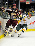9 January 2009: Boston College Eagles' defenseman Tim Filangieri, a Senior from Islip Terrace, NY, in action during the first game of a weekend series against the University of Vermont Catamounts at Gutterson Fieldhouse in Burlington, Vermont. The Catamounts scored with one second remaining in regulation time to earn a 3-3 tie with the visiting Eagles. Mandatory Photo Credit: Ed Wolfstein Photo