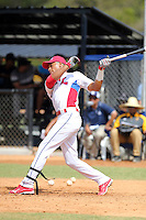 Luis Martinez participates in the International Prospect League Showcase at the New York Yankees academy in Boca Chica, Dominican Republic on January 24, 2014 (Bill Mitchell)