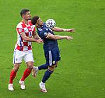 22.06.2021 Croatia v Scotland: Che Adams and Dejan Lovren