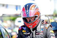 May 6, 2012; Commerce, GA, USA: NHRA top fuel dragster driver David Grubnic during the Southern Nationals at Atlanta Dragway. Mandatory Credit: Mark J. Rebilas-