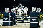 Christian Kukuk of Germany riding Cordess competes in the Longines Speed Challenge during the Longines Masters of Hong Kong at AsiaWorld-Expo on 10 February 2018, in Hong Kong, Hong Kong. Photo by Ian Walton / Power Sport Images