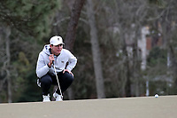 PINEHURST, NC - MARCH 02: Michael Brennan of Wake Forest University lines up a putt on the fifth hole at Pinehurst No. 2 on March 02, 2021 in Pinehurst, North Carolina.