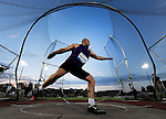 Piotr Malachowski of Poland throws the discus on his way to winning the Men's Discus on the opening day of the Prefontaine Classic at Hayward Field in Eugene, Oregon, USA, 29 MAY 2015. (EPA Photo by Steve Dykes)