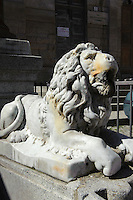 Detail Brunnen Fontana Grixoni auf Piazza Vitttotio Emanuele III in Ozieri,  Provinz Sassari, Nord - Sardinien, Italien