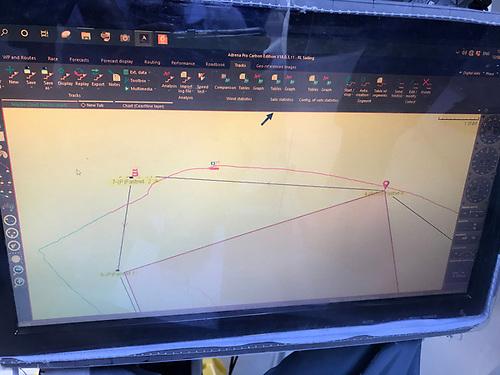 GPS Track Black out at the Fastnet. Screenshot RL Sailing