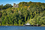 Connecticut River and Gillette Castle from River Quest tour boat. Chester Hadlyme ferry.