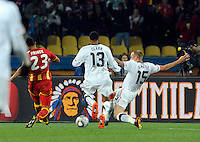 Kevin Prince Boateng of Ghana scores the opening goal. USA vs Ghana in the 2010 FIFA World Cup at Royal Bafokeng Stadium in Rustenburg, South Africa on June 26, 2010.
