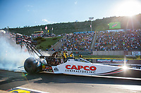 Jul 19, 2019; Morrison, CO, USA; NHRA top fuel driver Steve Torrence during qualifying for the Mile High Nationals at Bandimere Speedway. Mandatory Credit: Mark J. Rebilas-USA TODAY Sports
