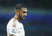 Neil Taylor of Swansea City during the Barclays Premier League match between Manchester City and Swansea City played at the Etihad Stadium, Manchester on December 12th 2015