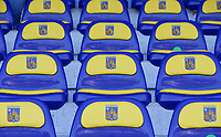 Illustrative photo of the seats in Het Kuipje taken during a friendly soccer game between KVC Westerlo and Belgium U21 on Tuesday 30 th of March 2021  in Het Kuipje , Westerlo Belgium . PHOTO SPORTPIX.BE | SPP | SEVIL OKTEM