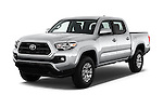 2016 Toyota Tacoma SR5 4 Door Pickup Angular Front stock photos of front three quarter view