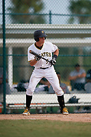 Pittsburgh Pirates Paul Brands (5) at bat during an Instructional League game against the Detroit Tigers on October 6, 2017 at Pirate City in Bradenton, Florida.  (Mike Janes/Four Seam Images)