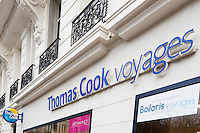 The Boiloris group (Thomas Cook, Jet Tour...) file for bankruptcy, on january 3, 2017 in Paris.