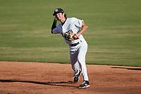 Charleston RiverDogs shortstop Alika Williams (6) on defense against the Augusta GreenJackets at Joseph P. Riley, Jr. Park on June 27, 2021 in Charleston, South Carolina. (Brian Westerholt/Four Seam Images)