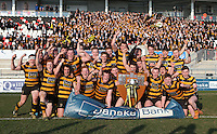 SCF2016 - RBAI vs Campbell College | Thursday 17th March 2016<br /> <br /> RBAI celebrate their victory after the Ulster Schools Cup Final between RBAI and Campbell College at Kingspan Stadium, Ravenhill Park, Belfast, Northern Ireland. Photo credit: John Dickson / DICKSONDIGITAL