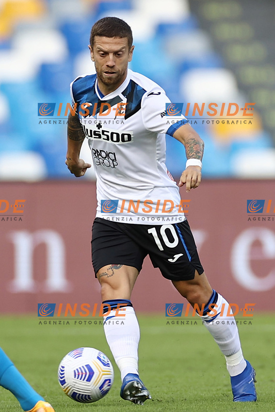 Alejandro Dario Gomez of Atalanta BC and Hirving Lozano of SSC Napoli compete for the ball<br /> during the Serie A football match between SSC Napoli and Atalanta BC at stadio San Paolo in Napoli (Italy), October 17th, 2020. <br /> Photo Cesare Purini / Insidefoto
