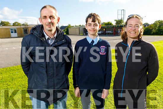 The O'Mahoney family celebrating Peter O'Mahoney's graduation from Ardfert NS on Thursday.<br /> L to r: Peter, Sean and Urusla O'Mahoney.
