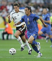 Mauro Camoranesi.  Italy defeated Germany, 2-0, in overtime in their FIFA World Cup semifinal match at FIFA World Cup Stadium in Dortmund, Germany, July 4, 2006.