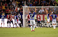 FC Dallas Captain Daniel Hernandez celebrates his teams' first goal  during the first half of game between Chivas USA and FC Dallas at the Home Depot Center in Carson CA on June 26 2010. FC Dallas 2, Chivas USA 1.