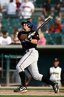 May 19  2007: Craig Cooper of the Lake Elsinore Storm bats against the Lancaster JetHawks at Clear Channel Stadium in Lancaster,CA.  Photo by Larry Goren/Four Seam Images