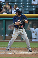 Tony Campana (4) of the Reno Aces at bat against the Salt Lake Bees at Smith's Ballpark on May 4, 2014 in Salt Lake City, Utah.  (Stephen Smith/Four Seam Images)