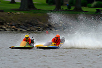Frame 3: 300-P comes together with 911-Q, turns away and then is ejected from the boat.   (Outboard Hydroplanes)