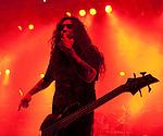 Tom Araya of Slayer performing at Festival Hall, Melbourne, 9 October 2009