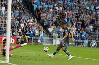 SAINT PAUL, MN - JULY 3: Ramon Abila #9 of Minnesota United FC scores a goal during a game between San Jose Earthquakes and Minnesota United FC at Allianz Field on July 3, 2021 in Saint Paul, Minnesota.