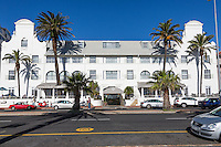 South Africa, Cape Town. Winchester Mansions, Sea Point Promenade.
