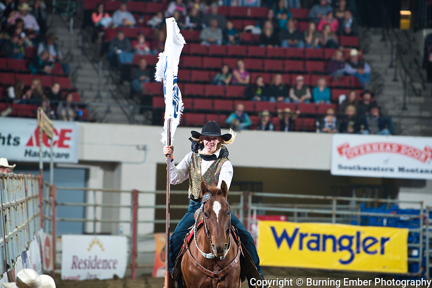 Sponsor Flags at the NILE PRCA 1st perf Event. October 18th, 2018.  Photo by Josh Homer/Burning Ember Photography.  Photo credit must be given on all uses.