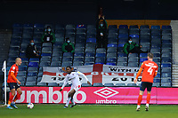 4th May 2021; Kenilworth Road, Luton, Bedfordshire, England; English Football League Championship Football, Luton Town versus Rotherham United; Health care staff attempt to perform a Mexican wave